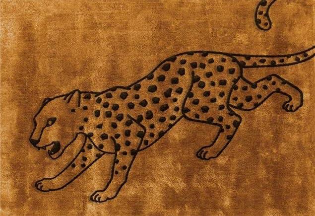 Layered Cheetah Deep Saffron gulvtæppe