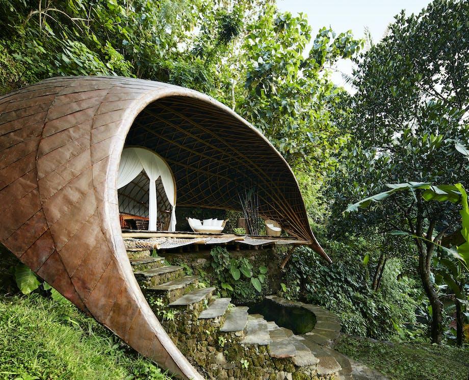 Bæredygtig bambushotel luksus