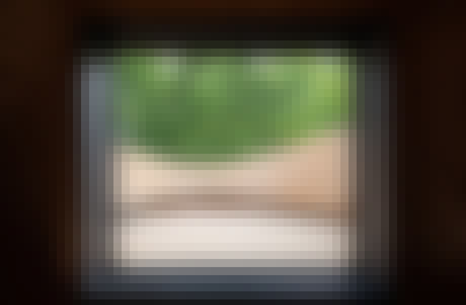 Monoarchi udsigt vindue terasse