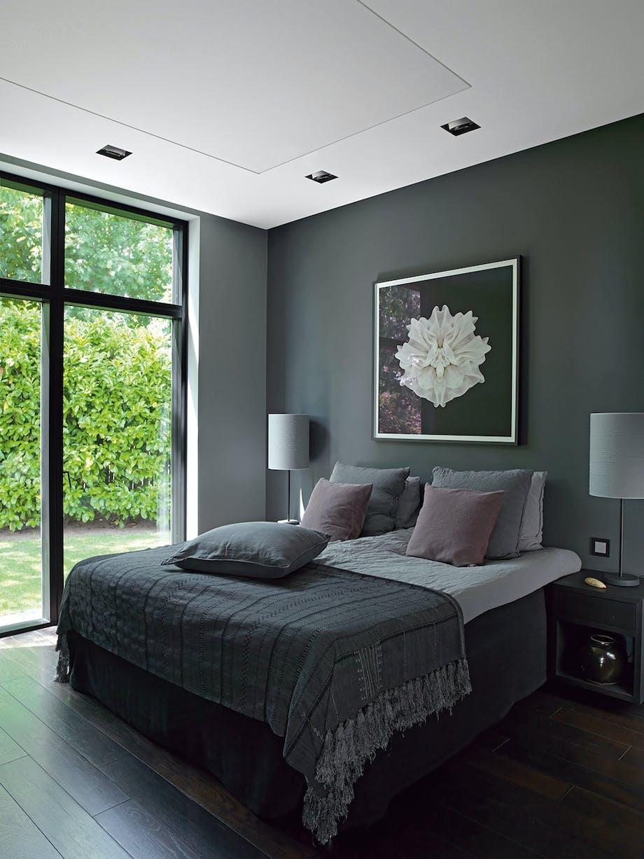 soveværelse seng velour kunst