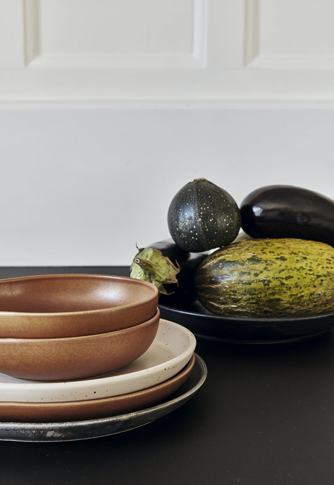 Keramik grøntsager skåle
