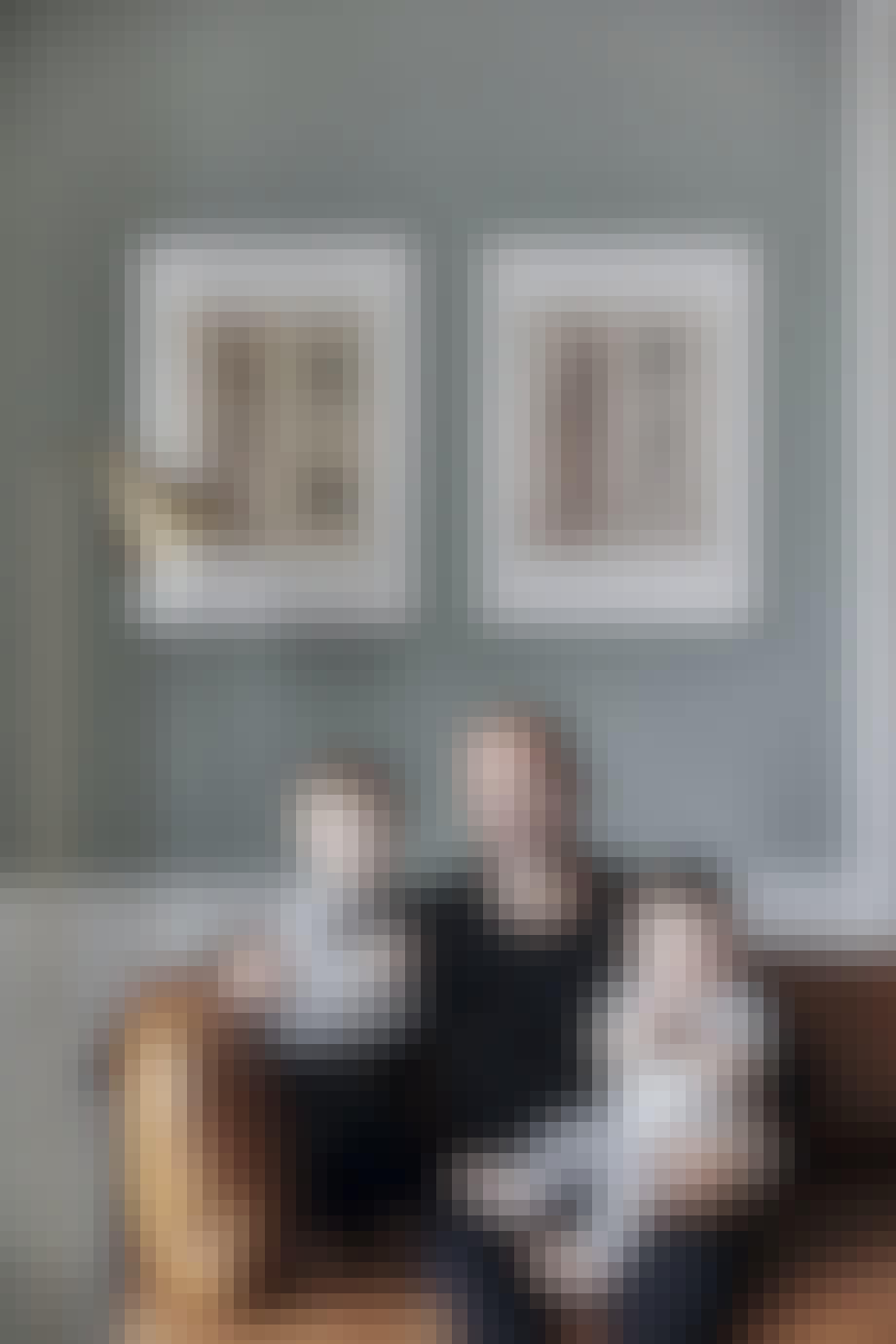 Familie lampe sofa