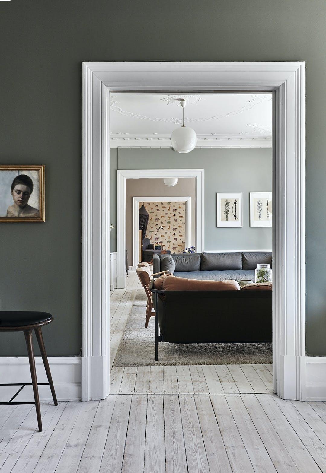 Stue sofa grønvæg