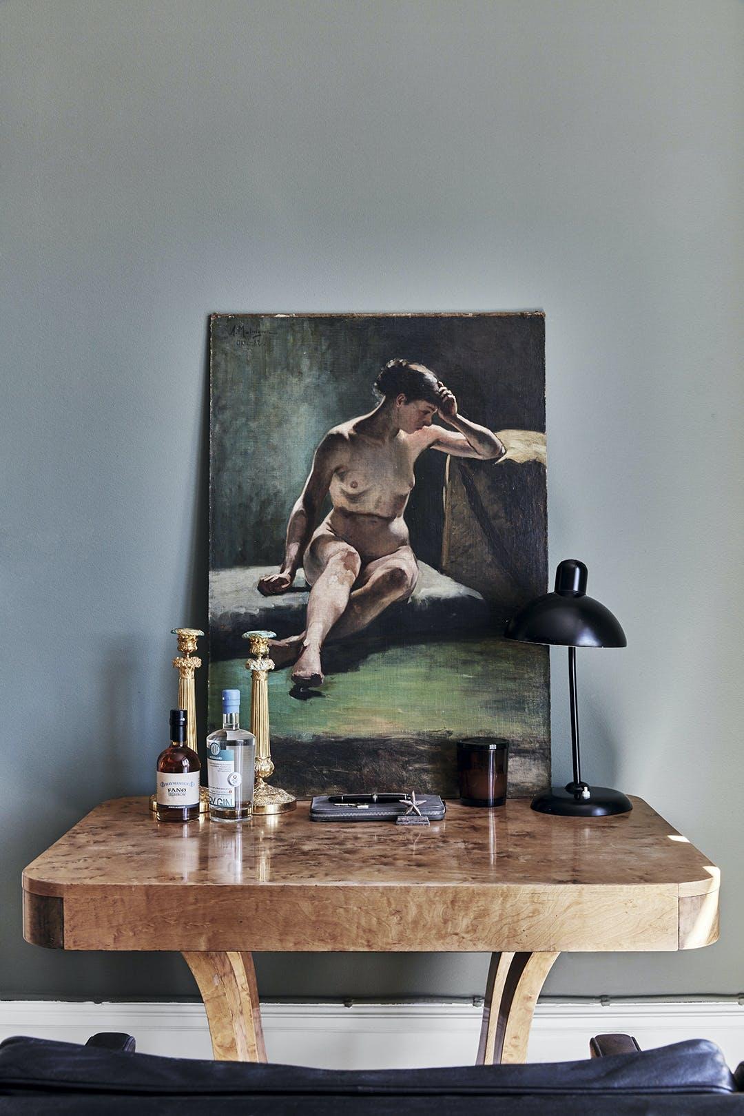 Kunst skrivebord maleri