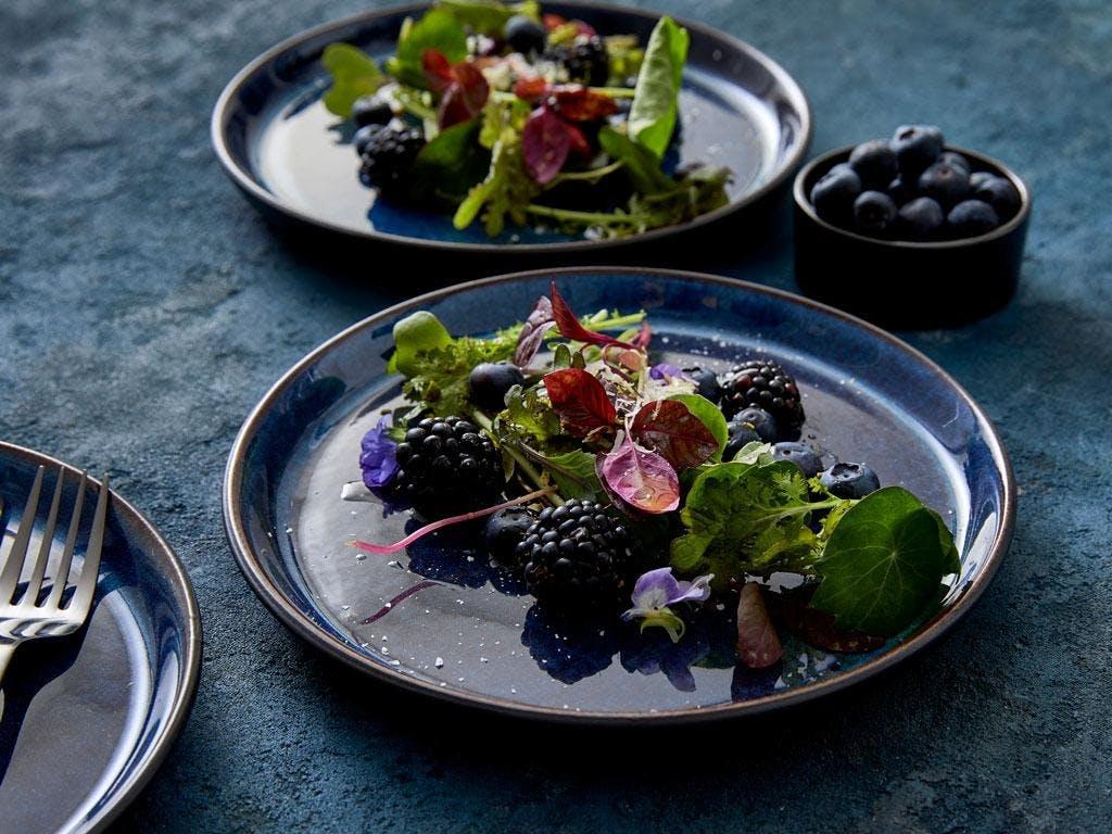 christian bitz middagstallerken tallerken mørkeblå blå