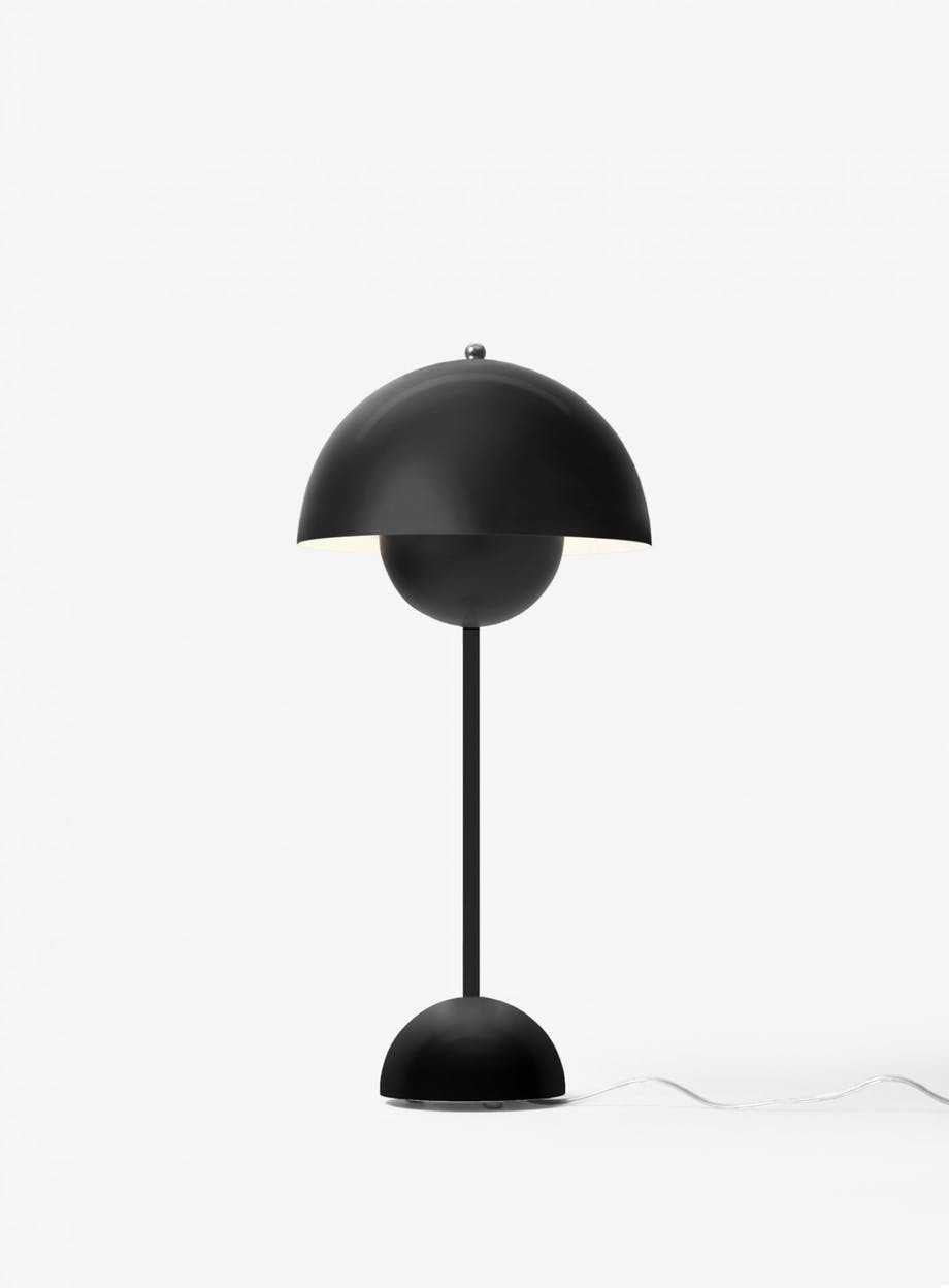 &tradition flowerpot bordlampe sort lampe