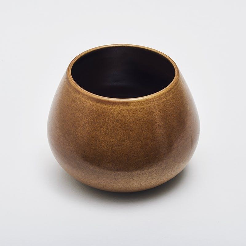 Duedahl lav vase kastanje keramik