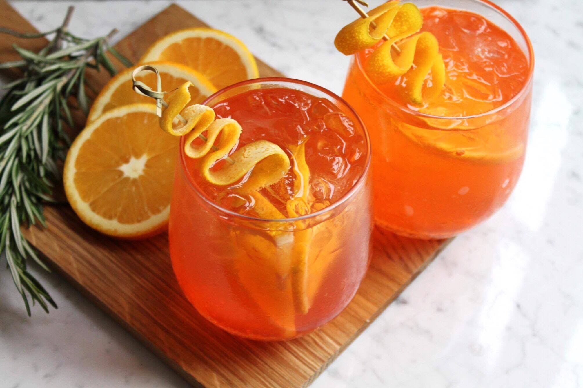 aperol spritz ginger beer cocktail drink