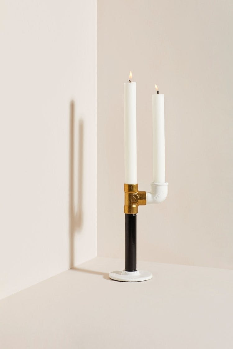 peace of pipes lysestage bæredygtig sort hvid