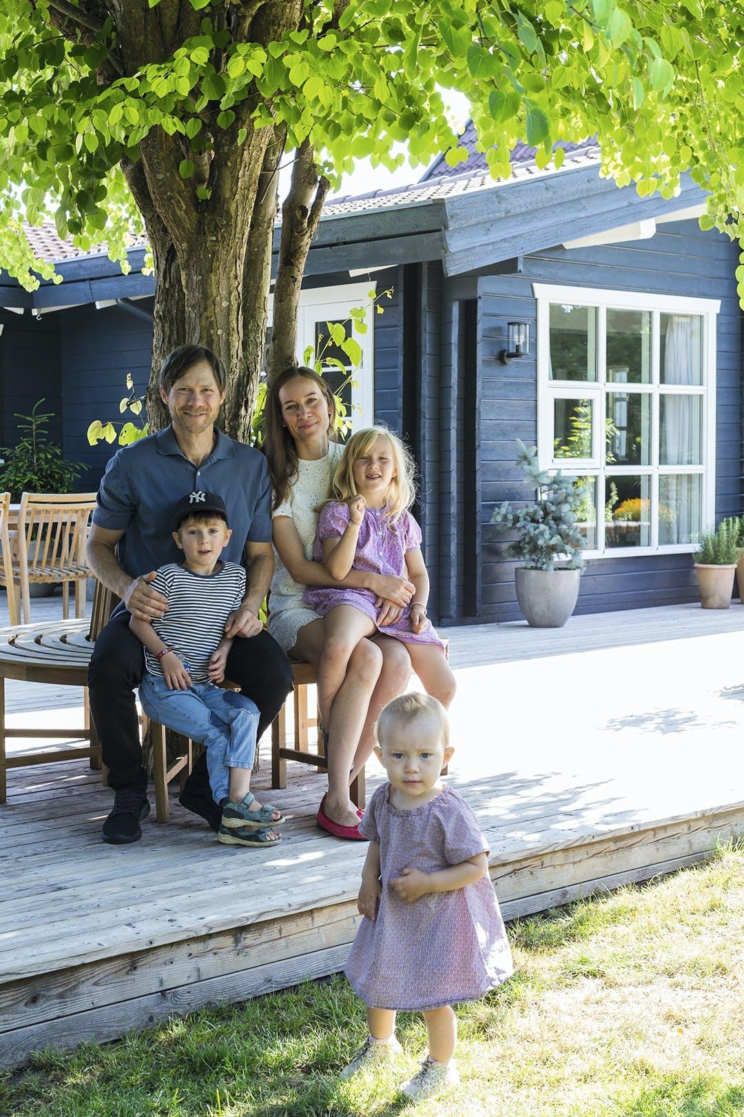 Familie terasse sommerhus
