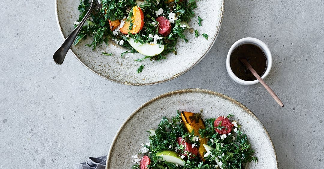 grønkålssalat hverdagsmad aftensmad opskrift