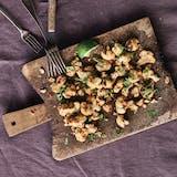 blomkål snack peanutbutter chili koriander opskrift aftensmad