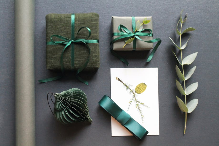 gavepapir moodboard gavebånd