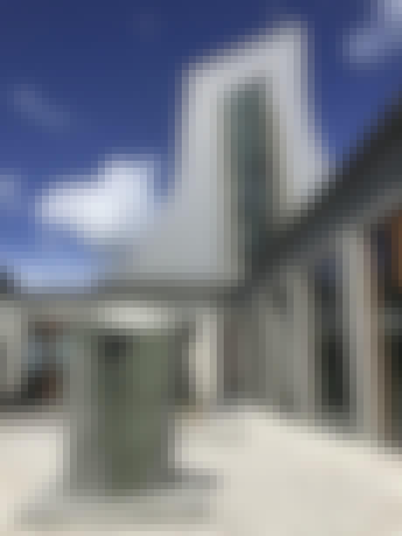 Arkitektur glasvinduer bygning
