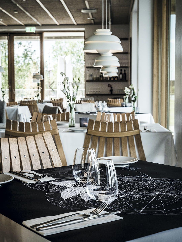 Restaurant bord borddækning