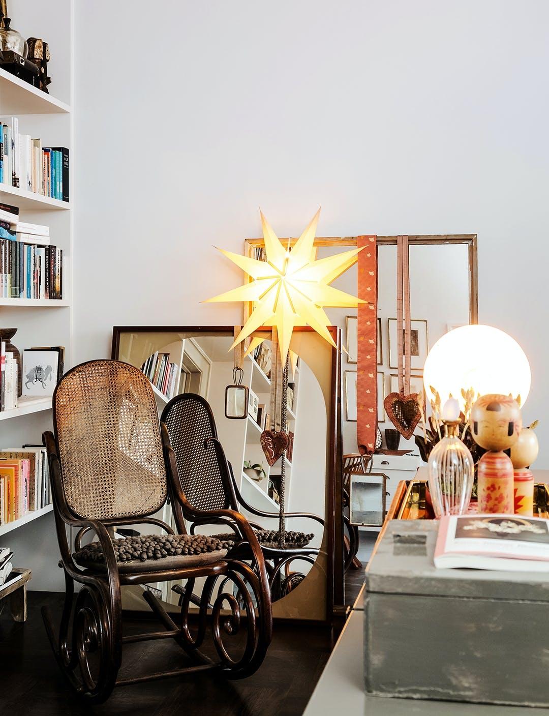 stue sofa lænestol flet sofabord jul julepynt