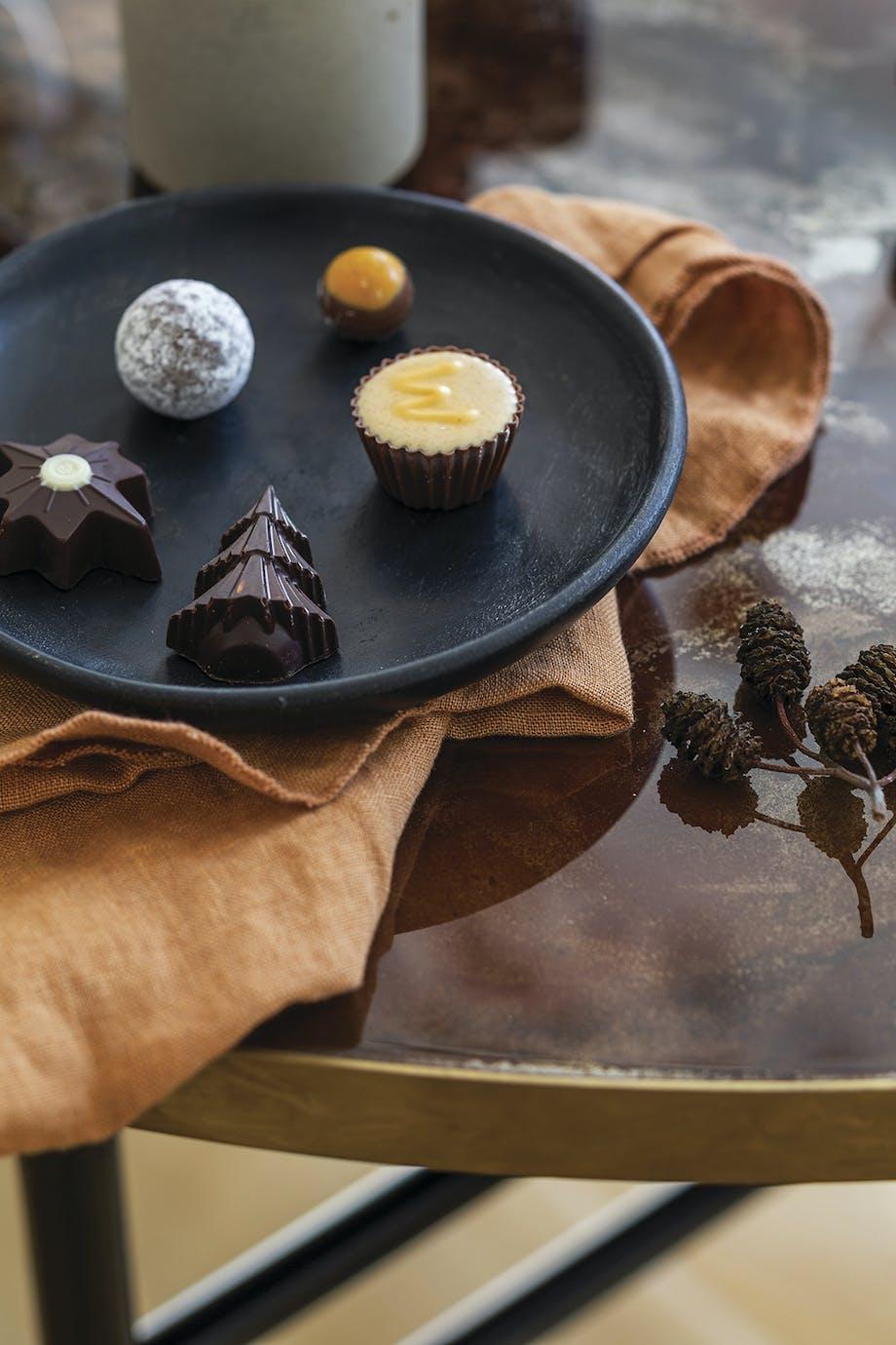 konfekt bordpynt chokolade
