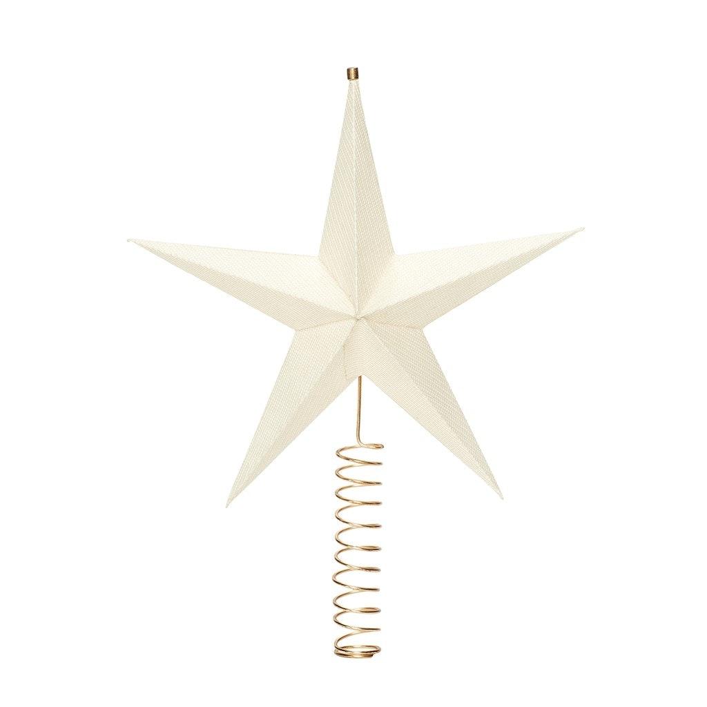julestræsstjerne topstjerne hvid Hübsch
