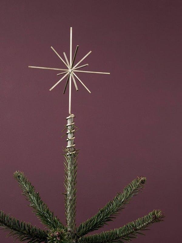 juletræsstjerne topstjerne julepynt Ferm Living guld
