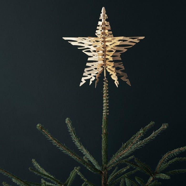 juletræsstjerne topstjerne stelton guld