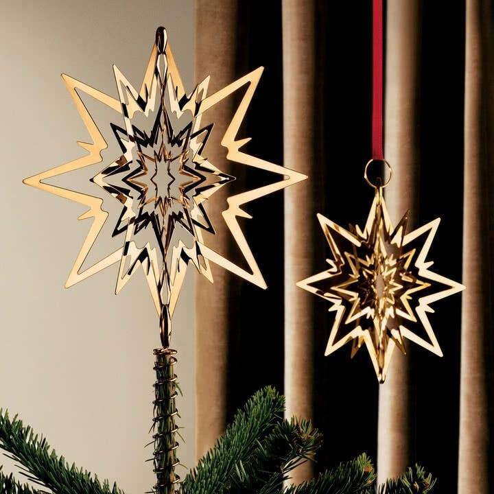 juletræsstjerne topstjerne Georg Jensen guld