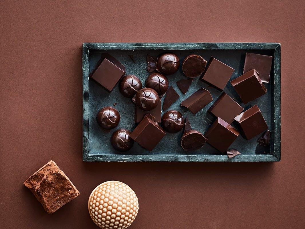 Fyldte chokolader med nougat