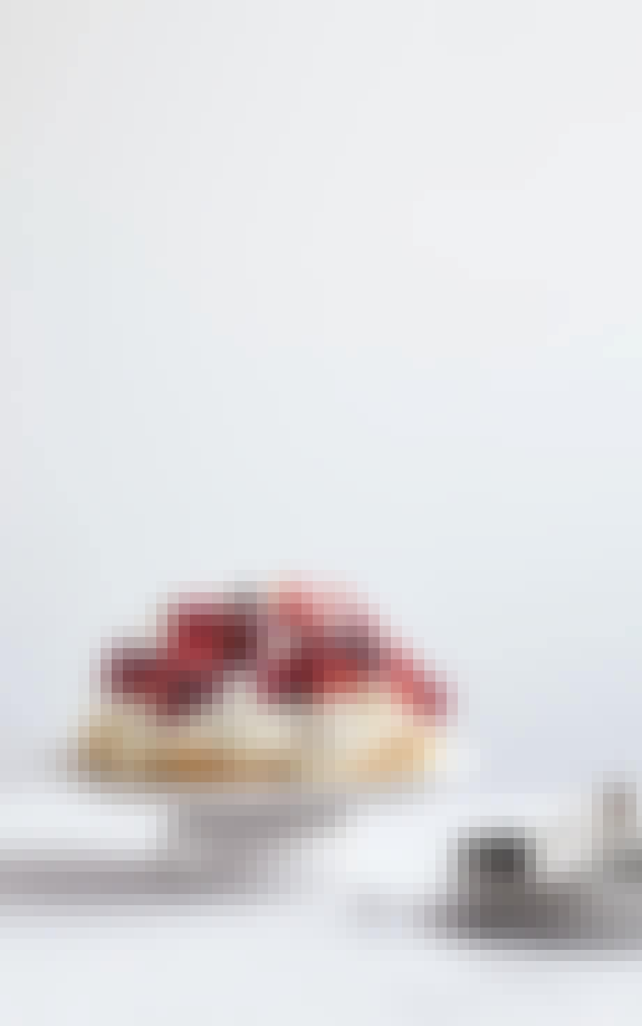 lækker maregns og bær kage