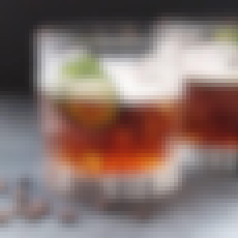 En mocktail med espresso