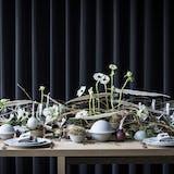 nytårsbord borddækning blomster