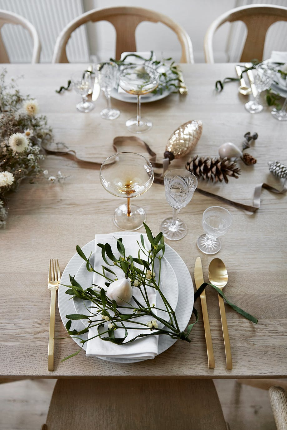 borddækning bestik opdækning julepynt