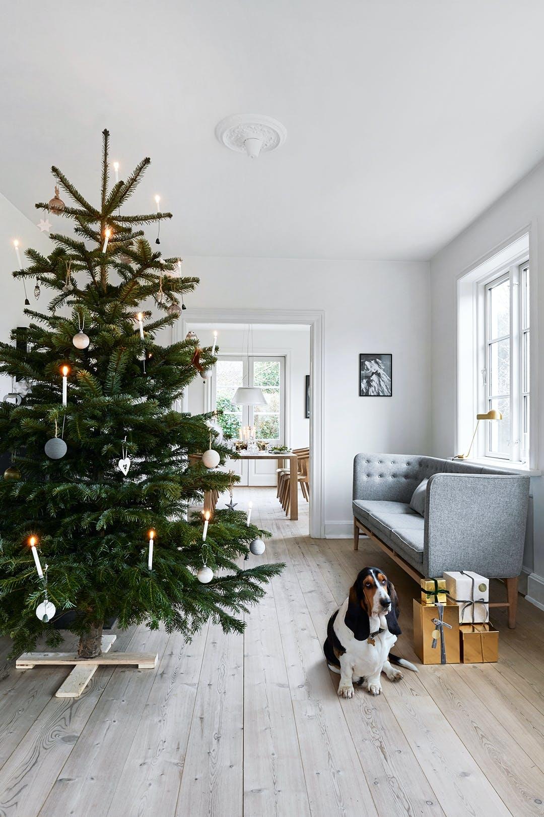 jul juletræ dekorationer pynt stue