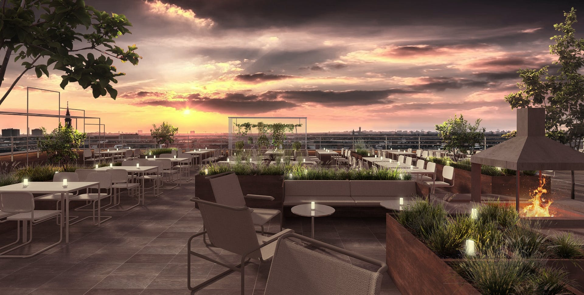 tramonto restaurant københavn carlsberg hotel ottilia tagterasse