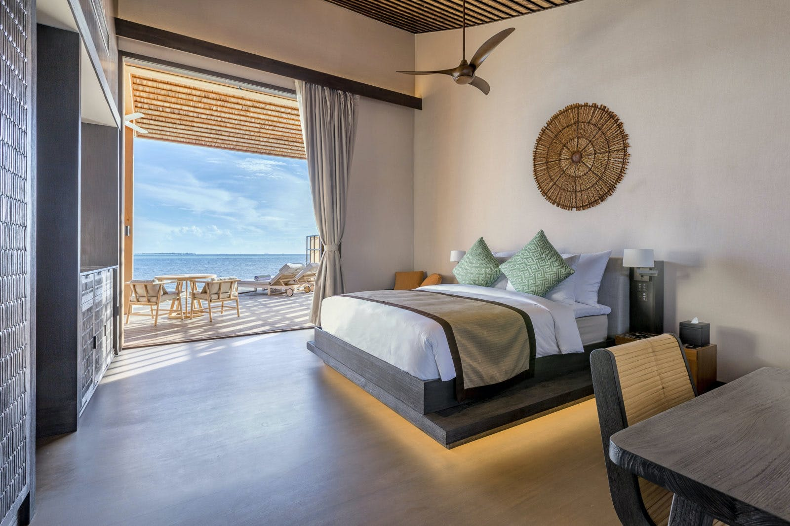 Maldiverne hotel soveværelse villa retreat