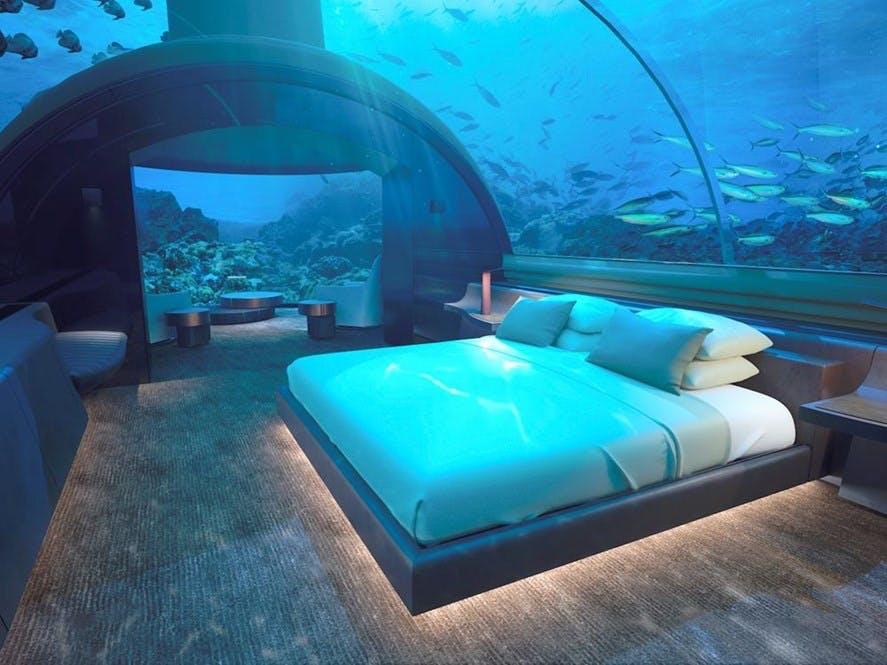 conrad muraka underwater hotel soveværelse