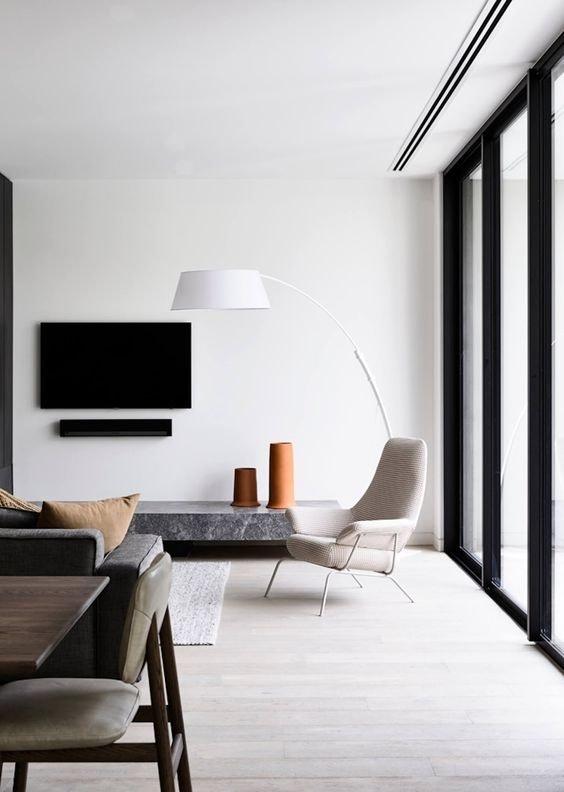 stue indretning minimalistisk