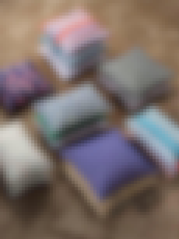ferm living pude salon cushion print farverig