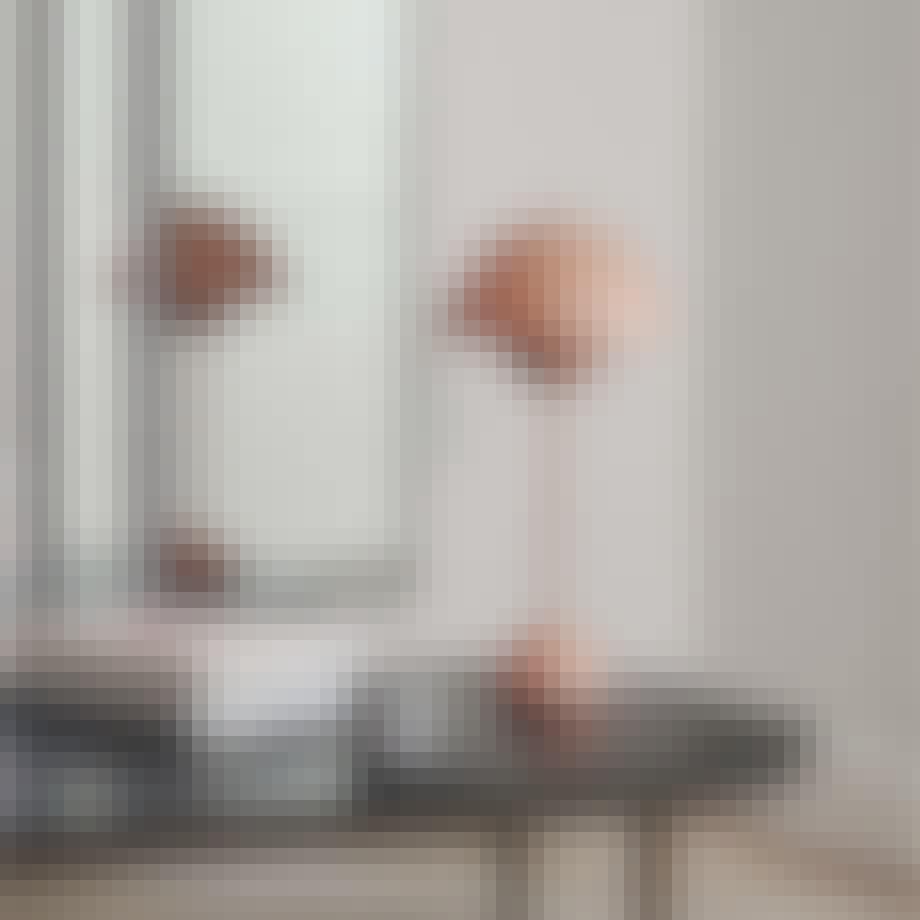 Den populære Flowerpot læselampe designet af Verner Panton
