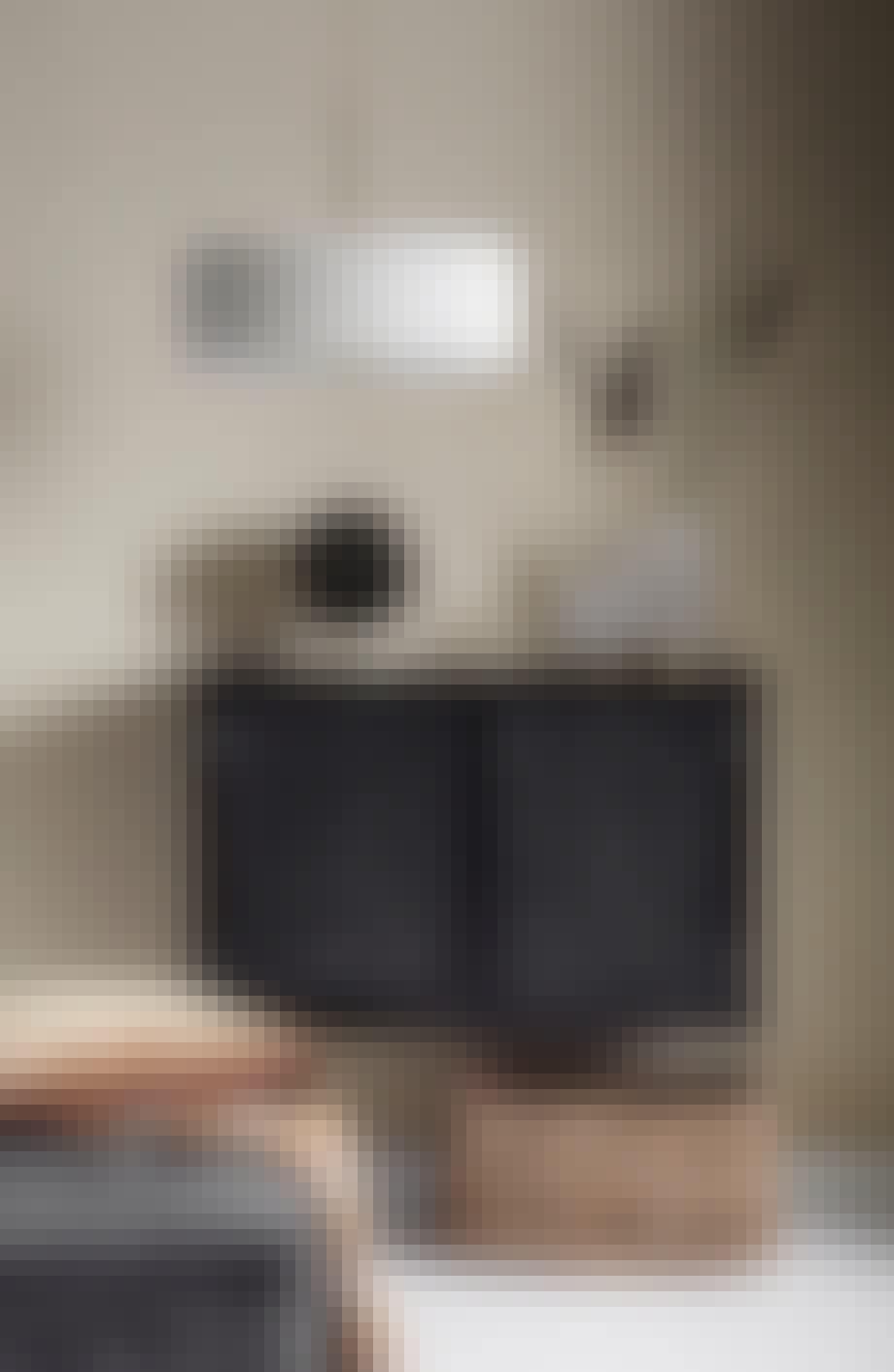Loftlampe med plissé skærm