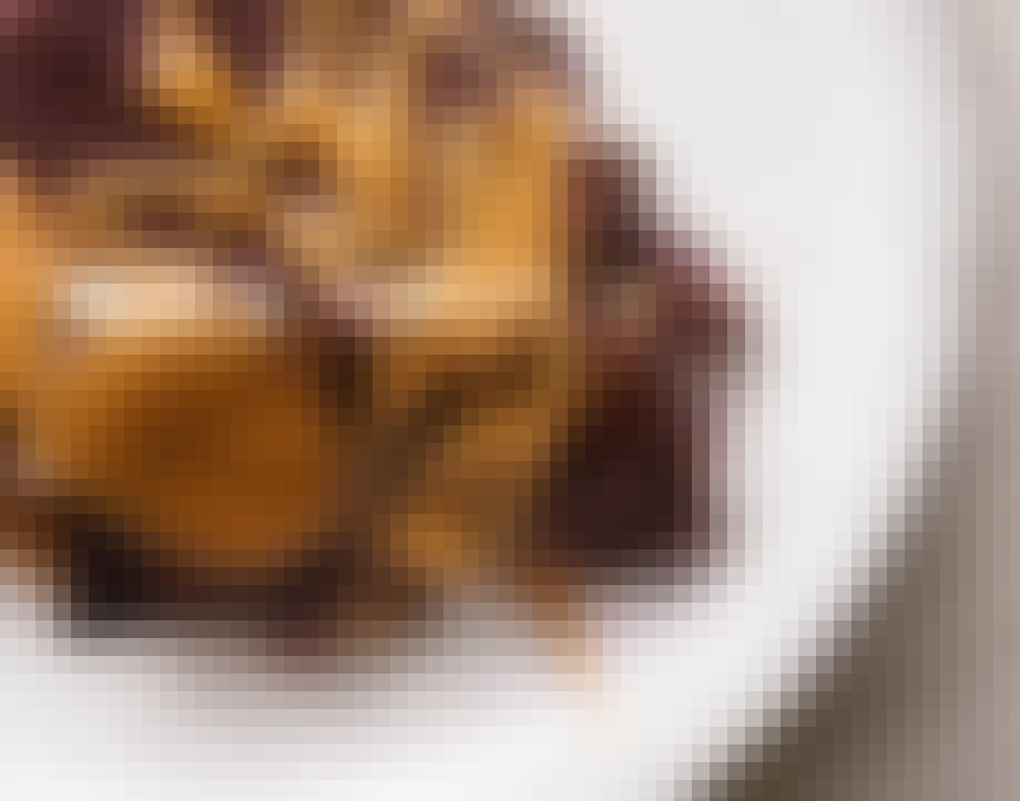 nem kage popkage med karamel og chokolade
