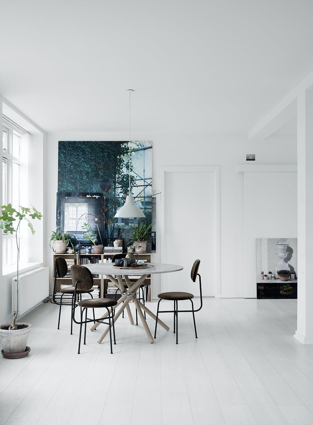 spisestue spisebord beton planter lyst