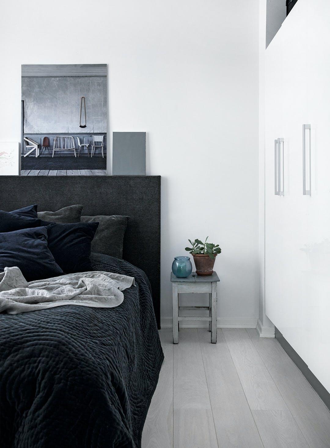 soveværelse plante sengetæppe sengegavl