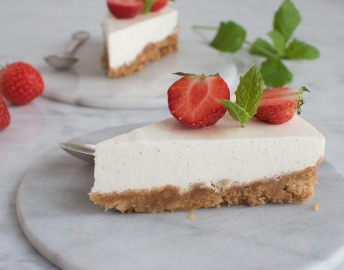 cheesecake med citron og vanilje