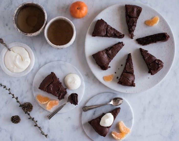Chokoladekage med dadler
