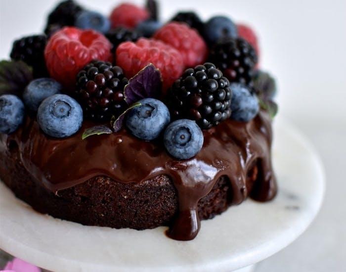 chokolademandelkage