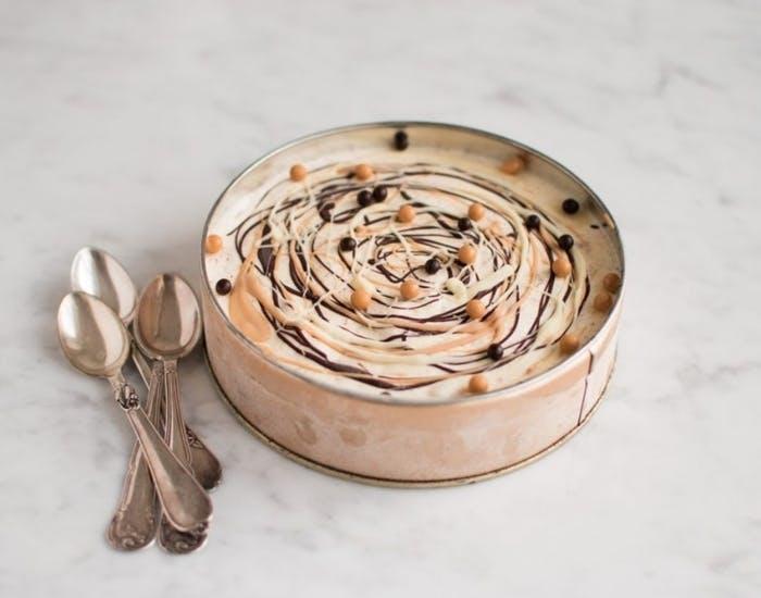 Parfait-is med 3 slags chokolader