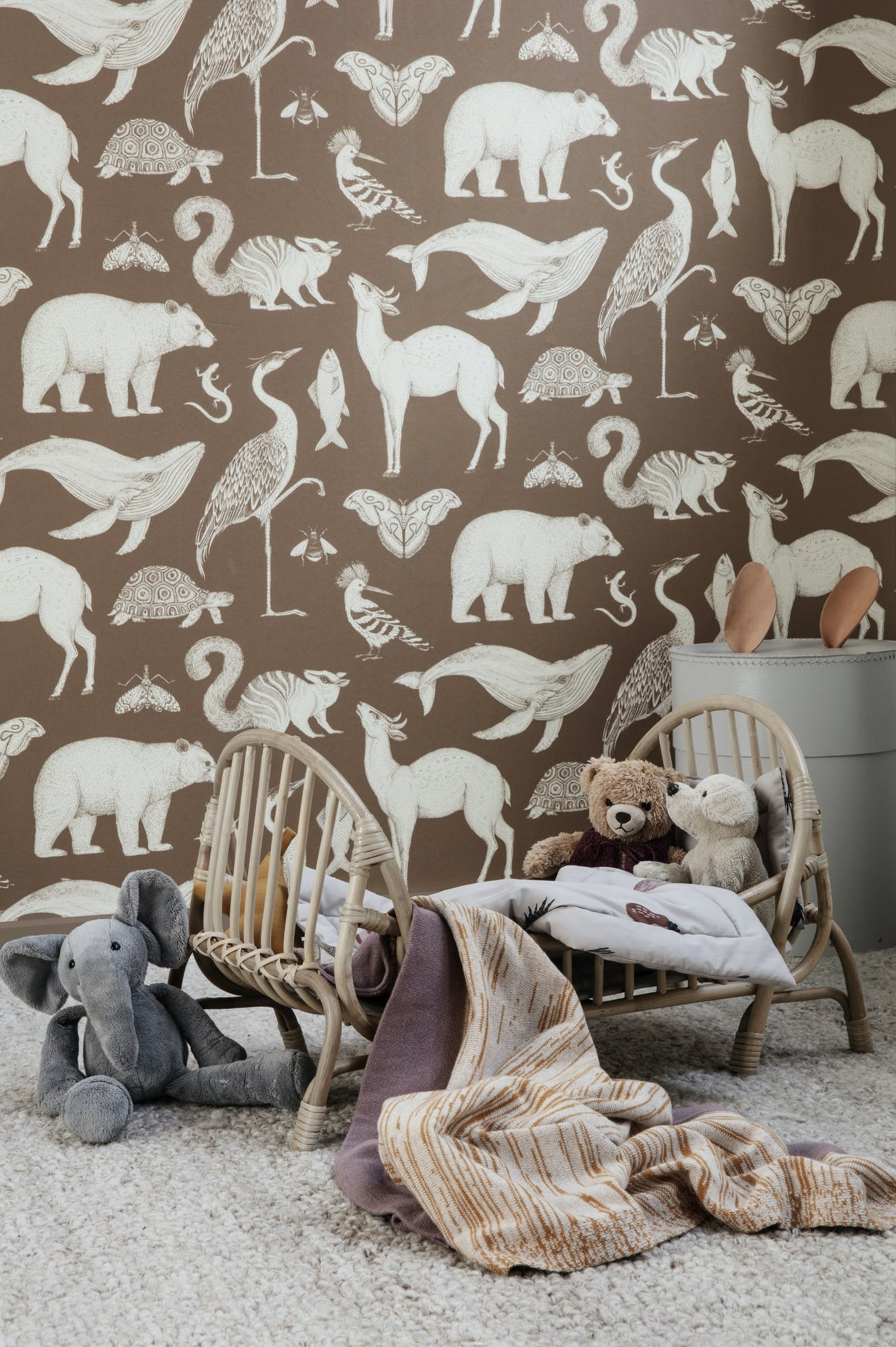 Ferm Living, Katie Scott Wallpaper - Animal