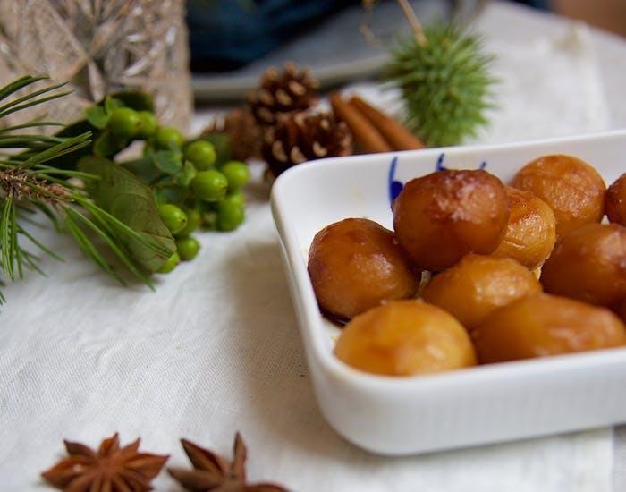 Brunede kartofler uden hvidt sukker og smør