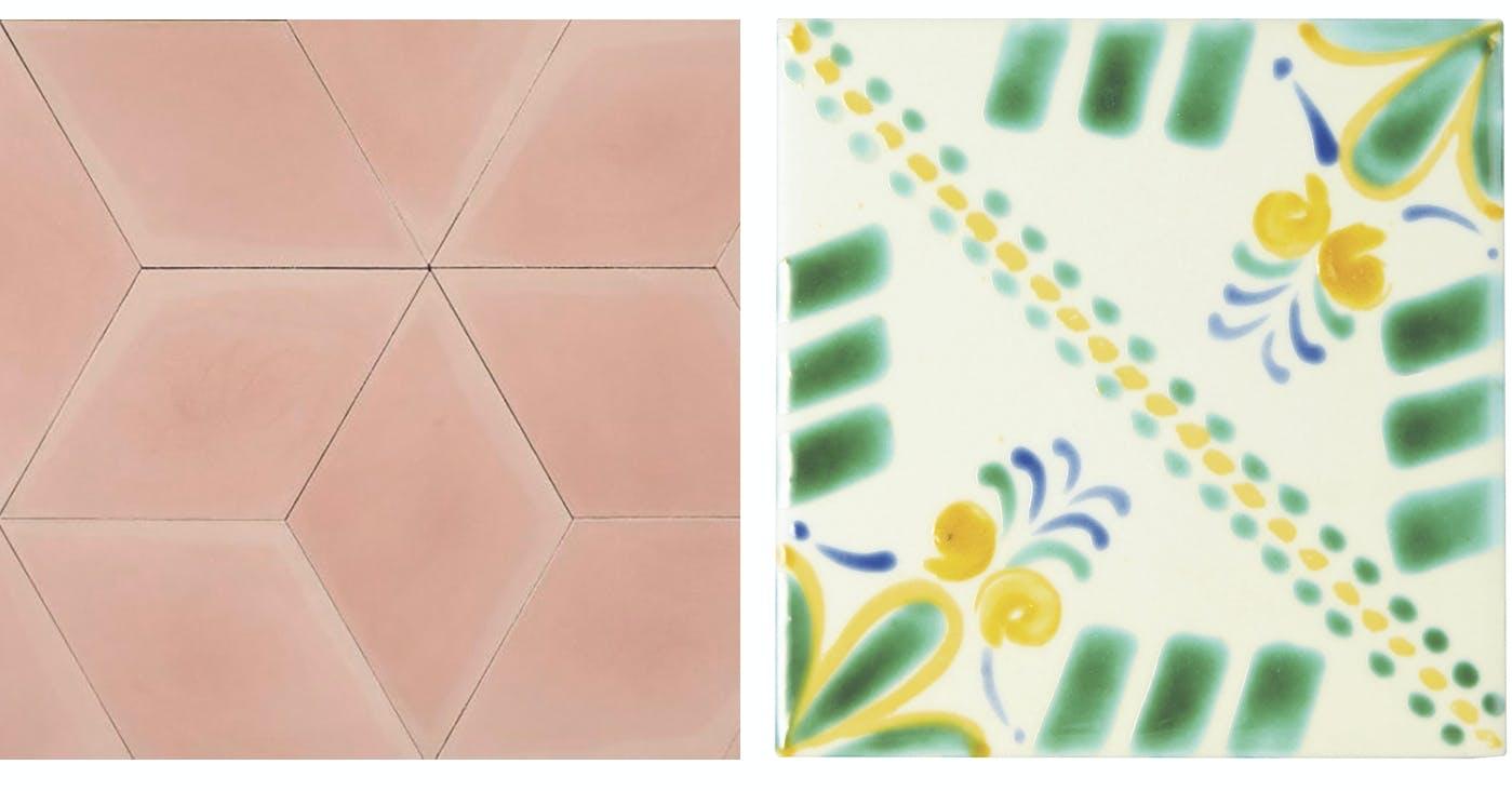 Mosaikhjørnet fliser