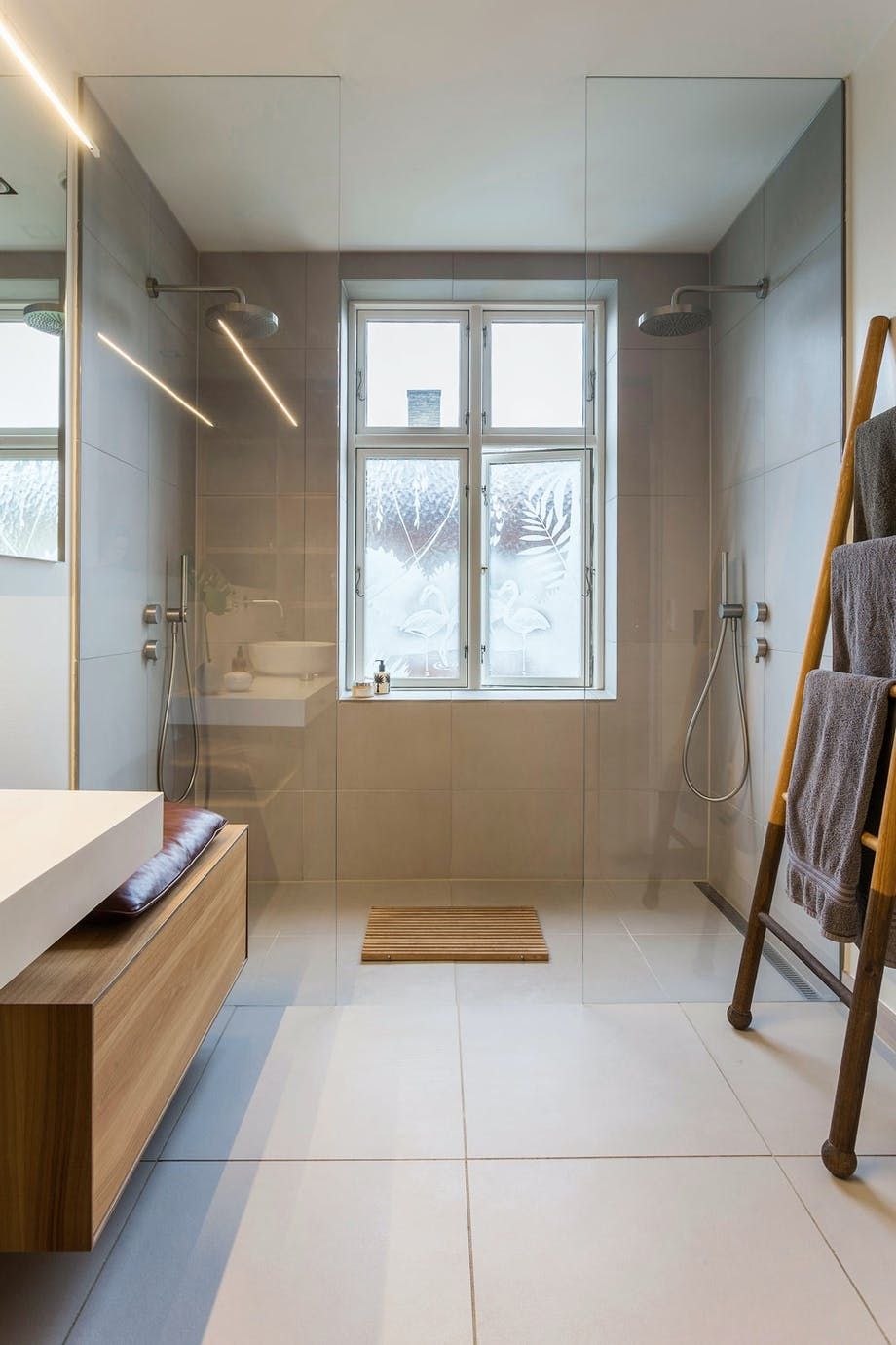 Plassutnyttelse i dusjen