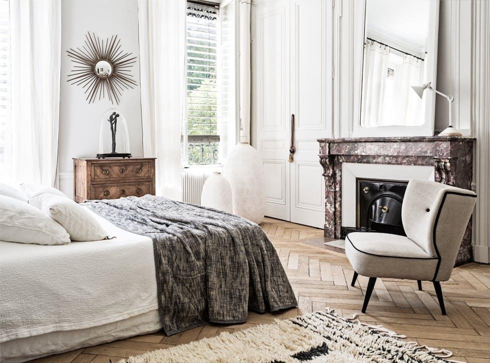 Hvitt, men varmt interiør